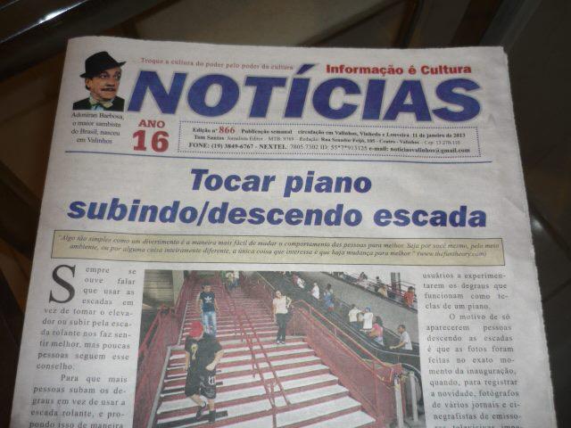 Capa do Jornal Notícias de Valinhos