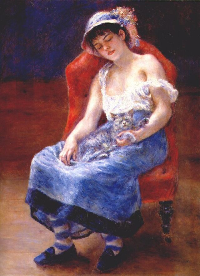 renoir-sleeping-girl-with-cat-1880